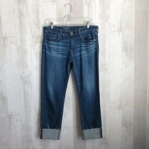 [AG Adriano Goldschmied] Stevie Cuff Raw Hem Jeans